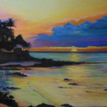 """Tranquil Cove""  oil on canvas by Lynn Chapman"