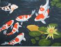 """Koi Pond"", Acrylic by Merna Joan Watta"