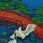 """Dancing Cranes""  Oil on canvas by Marcia Wishnick"