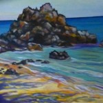 Beach/Lava,  oil painting by Lynn Chapman