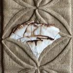 """Kona Coffee""  coffee sacks and filters by Ann Guth"