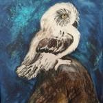 """Owlet""  oil by Pat Dinsman"