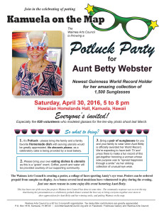 Flyer Aunt Betty newsletter