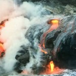 Grundseth Lava Reaches the Ocean