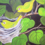 """Japanese White Eye""  oil by Pat Dinsman"