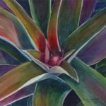"""""""Budding Pineapple"""" watercolor by Carolyn Lancaster"""